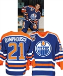 Vincent Damphousses 1991-92 Edmonton Oilers Game-Worn Jersey with LOA - 75th Patch!