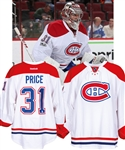 Carey Prices 2016-17 Montreal Canadiens Game-Worn Jersey with Team LOA - NHL Centennial Patch! - Worn Throughout the Season and Playoffs! - Photo-Matched!