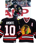 Tony Amontes 1998-99 Chicago Black Hawks Game-Worn Alternate Captains Third Jersey with LOA - 44-Goal Season!