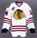 "Sergei Samsonovs 2007-08 Chicago Black Hawks Game-Worn Jersey with Team LOA - ""WWW"" Patch!"
