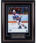 "Wayne Gretzky Signed Edmonton Oilers ""Awarded Hardware"" Framed Photo with WGA COA (27"" x 34"")"
