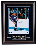 "Wayne Gretzky Signed Edmonton Oilers Framed  ""Game Action"" Photo with WGA COA (27"" x 34"")"
