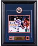 "Wayne Gretzky Signed Edmonton Oilers Framed ""Slap Shot"" Photo Display with WGA COA (17"" x 21"")"