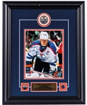 "Wayne Gretzky Signed Edmonton Oilers Framed ""The Stare"" Photo Display with WGA COA (17"" x 21"")"