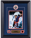 "Wayne Gretzky Signed Edmonton Oilers Framed ""Assessing Game Play"" Photo Display with WGA COA (17"" x 21"")"