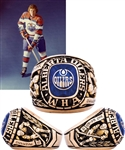 Ken Bairds 1972-73 WHA Alberta Oilers Inaugural Season 10K Gold Team Ring with LOA