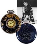 Johnny Gottseligs 1936 Black Hawks-Maple Leafs Exhibition Game Pocket Watch