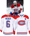 Shea Weber's 2018-19 Montreal Canadiens Game-Worn Captain's Jersey with Team LOA - Team Repairs! - Photo-Matched!