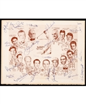 1956 Fifth Annual Celebrities Dinner Banquet Program Signed by Jackie Robinson, Lester and Lynn Patrick, Leo Dandurand, Conn Smythe and Many Others - JSA Certified!