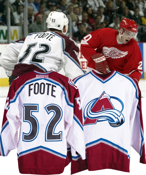 Adam Footes 2001-02 Colorado Avalanche Game-Worn Playoffs Jersey with LOA - Photo-Matched to Western Conference Finals!