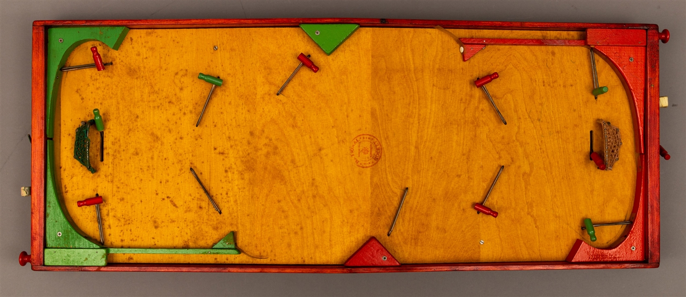 "Vintage Munro ""National 6-Man Hockey"" Wooden Table Top Hockey Game with Original Box"