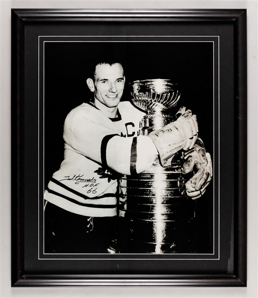 "Ted Kennedy Signed Toronto Maple Leafs Framed Photo with LOA (22"" x 26"")"