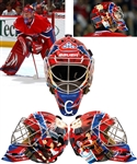 "Carey Prices December 4th 2009 Montreal Canadiens ""Centennial Game"" Signed Game-Worn Goalie Mask with Team LOA - Designed and Painted by David Arrigo! - Video-Matched! - Photo-Matched!"