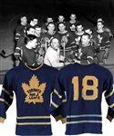 Toronto Maple Leafs Early-to-Mid-1950s Game-Worn Wool Jersey - Team Repairs!