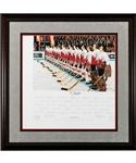 "Jean Ratelles 1972 Canada-Russia Series Team Canada ""OCanada"" Team-Signed Limited-Edition PE Daniel Parry Framed Lithograph #18/40 with His Signed LOA (35 ½"" x 36"")"