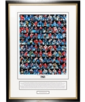 "Jean Ratelles ""100 Greatest NHL Players"" Limited-Edition Framed Display AP 54/100 with His Signed LOA (32"" x 43 ½"")"