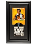 "Muhammad Ali ""The Greatest Love of All"" Signed Music Sheet Framed Display with JSA LOA"