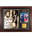 "Muhammad Ali Signed ""Ali vs Frazier - Fight of the Century"" Framed Display with PSA/DNA COA (26 ½"" x 32"")"