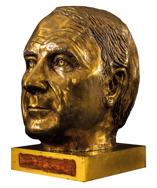 "Saul ""Red"" Fisher 1982 Bronze Bust Displayed at the Montreal Forum and Molson Centre/Bell Centre (12"")"