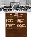 "Montreal Canadiens 1926-27 Commemorative Team Plaque Displayed at the Molson Centre/Bell Centre (13"" x 15"")"