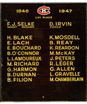 "Montreal Canadiens 1946-47 Montreal Forum Dressing Room Team Plaque (13"" x 15"")"