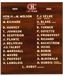 "Montreal Canadiens 1959-60 Commemorative Team Plaque Displayed at the Molson Centre/Bell Centre (10"" x 12"")"