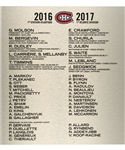 "Montreal Canadiens 2016-17 Bell Centre Dressing Room Team Plaque (13 ½"" x 15"")"