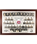 "Huge Montreal Canadiens 1995-96 Framed Master Team Photo from the Montreal Forum (46"" x 66"")"