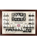 "Huge Montreal Canadiens 1997-98 Framed Master Team Photo from the Molson Centre (46"" x 66"")"