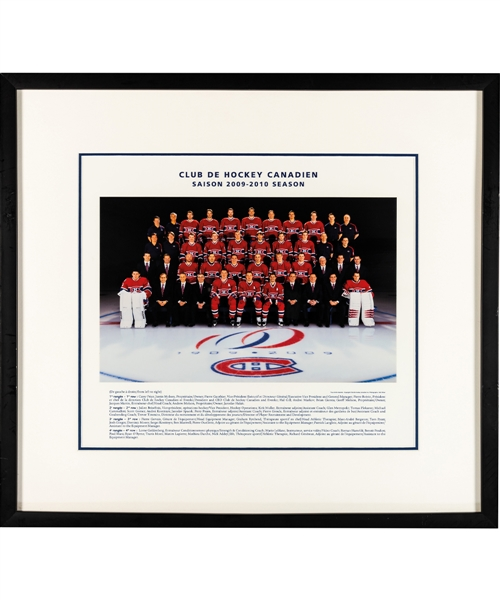 Montreal Canadiens 2003-04 to 2019-20 Framed Team Photos (7) from the Montreal Canadiens Archives