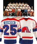 Bob Guindons 1973-74 WHA Quebec Nordiques Game-Worn Jersey from Anders Hedbergs Personal Collection with His Signed LOA – Team Repairs!