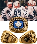 Anders Hedbergs 1992-93 Toronto Maple Leafs Norris Playoff Division Champions 14K Gold and Diamond Ring with His Signed LOA