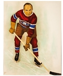 Spectacular Howie Morenz Montreal Canadiens Vintage Hand-Coloured Rice Studios Photo from the Montreal Canadiens Archives