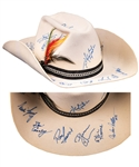 Anders Hedbergs 1985 NHL All-Star Game Wales Conference All-Stars Team-Signed Cowboy Hat including Pelle Lindbergh and Mario Lemieux with His Signed LOA